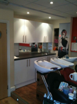 Salon new doors and worktop