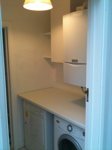 Utility room worktop and cupboards